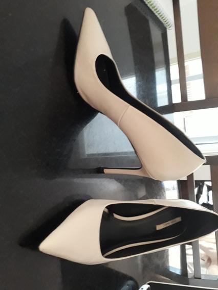 Scarpin Zara Basics (creme)