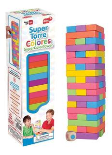 Jenga De Colores Madera Torre De Colores