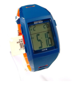 Relógio Masculino Mormaii Mo967ab/8a 38mm Borracha Azul Com