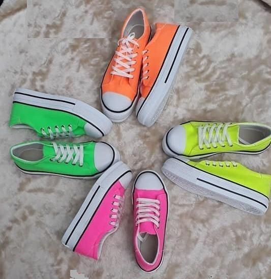 Zapatillas De Lona Fluors