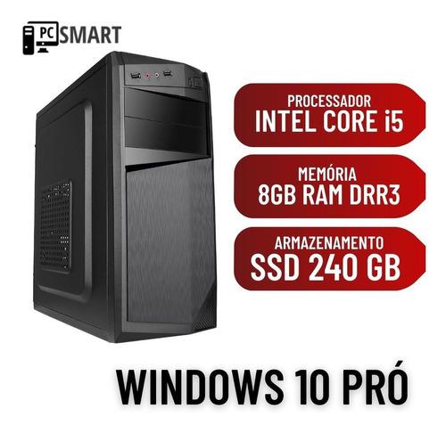 Imagem 1 de 2 de Computador Intel I5 8gb Ssd 240gb Windows 10 + Brinde