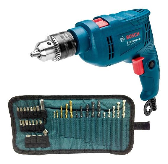 Taladro Percutor 1/2 Vvr 550w +kit 34 Bosch Gsb 550 Kit34