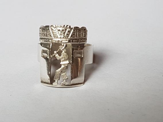 Anel Peruano Em Prata 925
