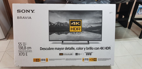 Smart Tv De 55 Pulgadas 4k Sony