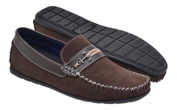 Sapato Mocassim Casual Masculino Moderno - Marrom