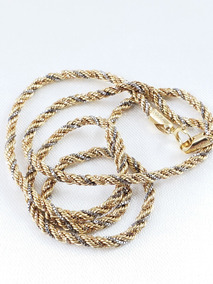 Cordão Baiano Trançada Ou Torcido Nas Três Cores Ouro 18k