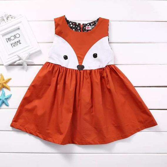 Vestido Raposa Fantasia Infantil Bebê Coruja Floresta