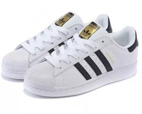 Tênis adidas Superstar Original Branco E Preto