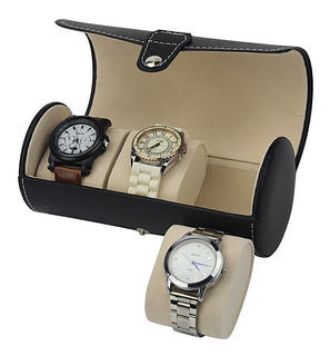 Reloj Roll Organizador Estuche De 3 Relojes Portatil