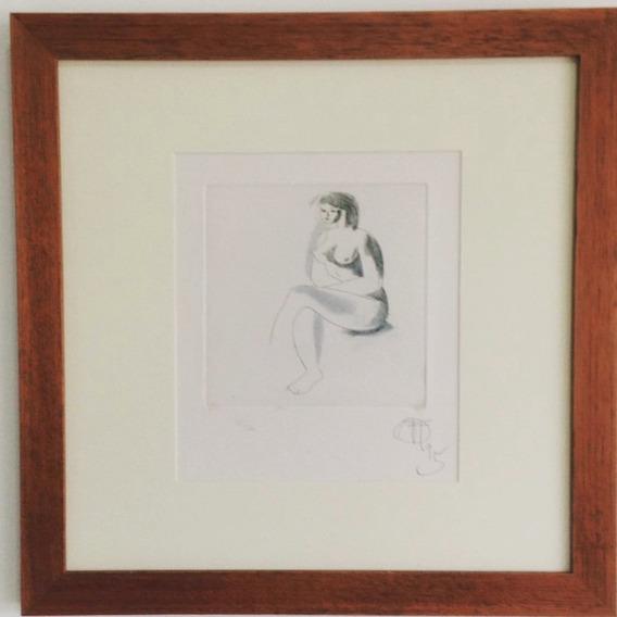 Floriano Teixeira - Mulher - Gravura Em Metal - 15x15cm
