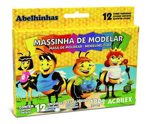Plastilina Acrilex 12 Colores Surtidos