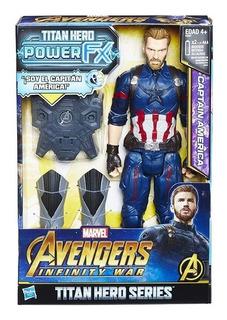 Capitan America Power Fx Avengers Infinity War Hasbro Orig