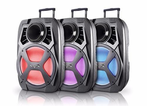 Parlante 15 Portatil Bateria Bluetooth Microfono Luces Led