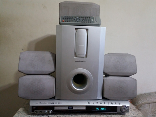Home Theater Bsi 9000 C/ Dvd, Receiver, Decoder Dolby Digita