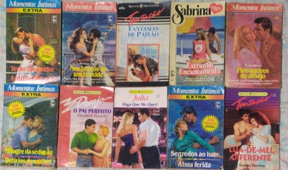 Lote 10 Livros Romances Harlequin Tentação Sabrina Julia