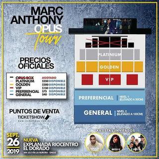 Entradas Vip Concierto Marc Anthony Guayaquil 26 Septiembre