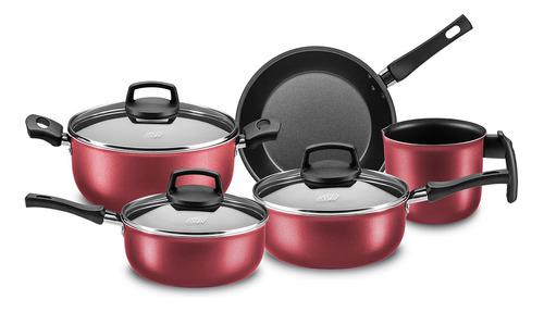 Imagen 1 de 2 de Batería Cocina Olla Cacerola Teflón Safira 5p Mta Cuotas