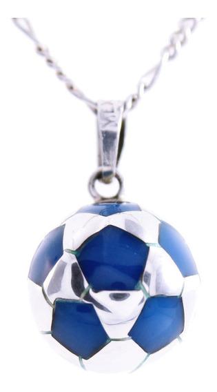 Dije Balón Fútbol De Plata .925 Regalo Para Caballero V.