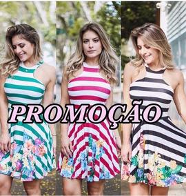 Vestido Curto Feminino Decote Promoção Viscolaycra.