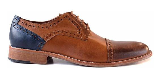 Zapato De Vestir Cuero Hombre Briganti Acordonado Hcac00972