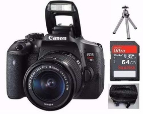 Camera Canon T6i Eos Rebel Dslr Ef-s 18-55mm T6i + Brindes