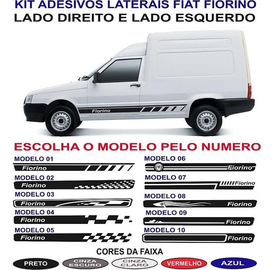 Par Adesivos Laterais Fiat Fiorino Bau Ou Pick Up Sport