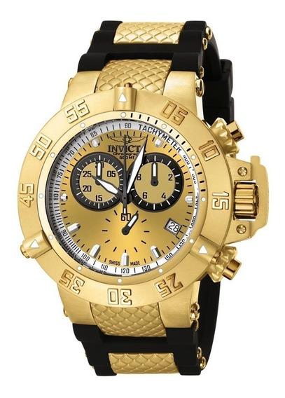 Relógio Invicta Subaqua Noma 3 Iii 5517 Banhado Ouro 18k