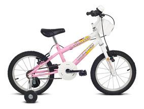 Bicicleta Infantil Aro 16 Verden Brave - Branca/rosa