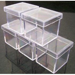 Caixinha Acrílico 5x5 Cristal Transparente Atacado 100peças