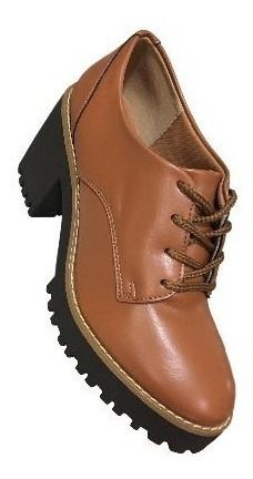 Sapato Oxford Via Scarpa 10568 Tratorado Floater Caramelo