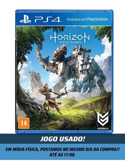 Jogo Horizon Zero Dawn Para Ps4 Mídia Física Original Usado