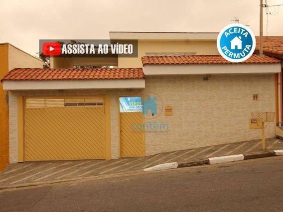 Ca0256- Casa Com 4 Dormitórios À Venda, 210 M² Por R$ 950.000 - Km 18 - Osasco/sp - Ca0256