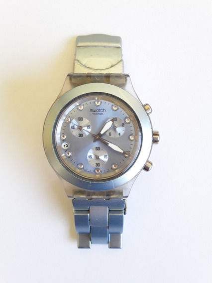 Relogio Swatch Irony Diaphane Aluminio Swarovski