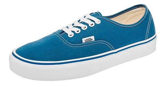 Tenis Casual Vans Azul Textil Authentic Niño 48529ipk