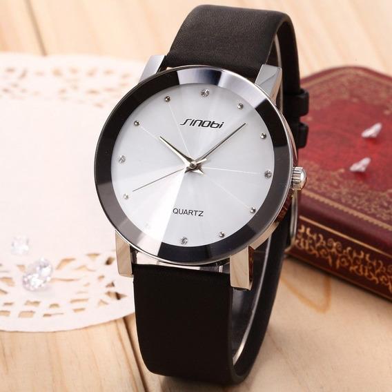 Relógio Masculino Pulso Sinobi Analógico Sin003 Branco