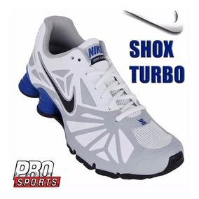 Nike Tenis 631760010 Shox Turbo 14 Cza Bco Azul - Original
