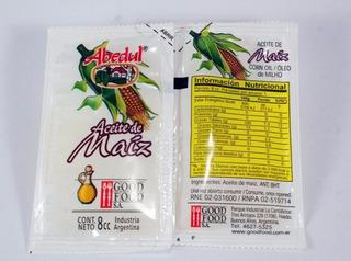Aceite Puro De Maiz Sobres Individuales 8 Cm3 Mini Porciones