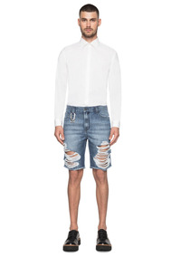 Bermuda Ellus Jeans Galaxy Deni ( Rock ) Destroyed Masculina
