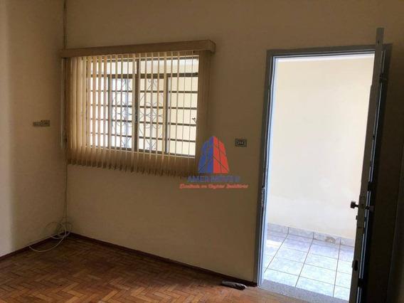 Casa Com 1 Dormitório Para Alugar, 48 M² Por R$ 900/mês - Jardim São Paulo - Americana/sp - Ca1010