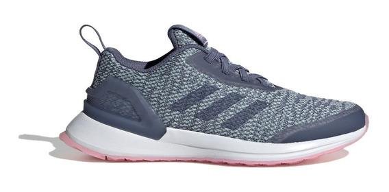 adidas Zapatilla Running Niña Rapidarun X Knit El C Gris