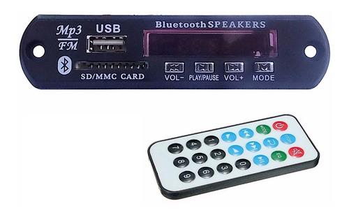 Imagem 1 de 3 de Placa Mp3 Player P Caixa Ativa Usb Sd Bluetooth Fm Tr Pasta