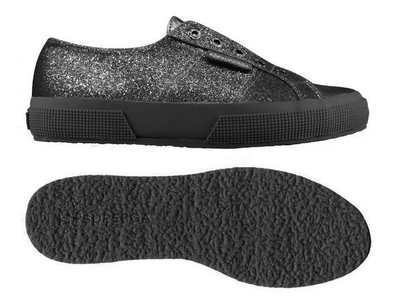 Zapatillas Superga - 2750 Microglittercotmetcoccow- Black