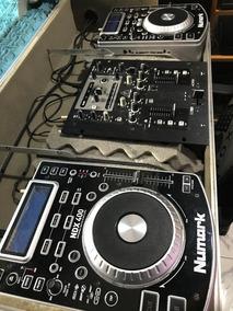 Vendo Par De Cdjs Numark Ndx400 E Mixer Behringer Na Case .
