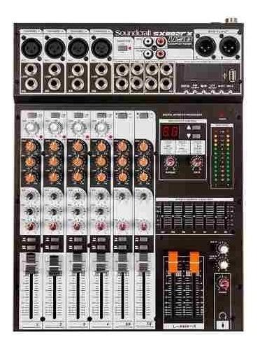 Mesa Som Soundcraft Sx802fx 8 Canais Usb Sx 802 Fx Sx802 Fx