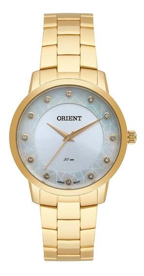 Relógio Orient Feminino Dourado Fgss0112 + Nfe + Garantia
