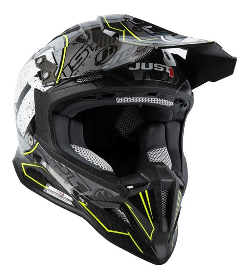 Casco Just1 J12 Stamp Carbon Black 100% Carbono