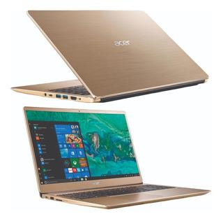 Notebook Acer Swift 3 I7 8gen 256 Ssd Uhd Graphics Gold Win