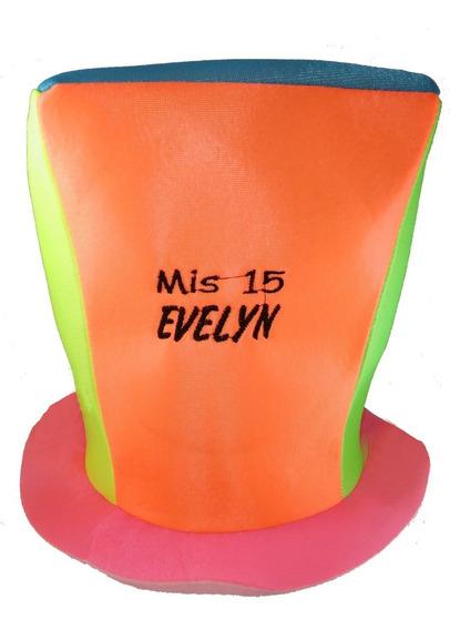 10 Galeron Bordado Personalizado Sombrero Casamiento 15 Años