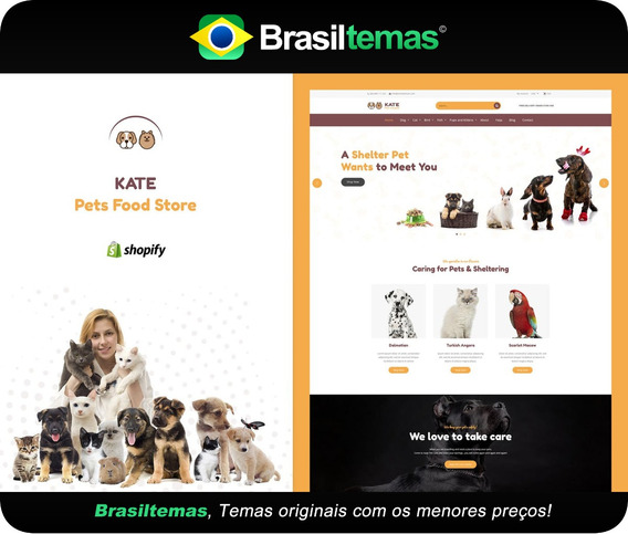 Kate Dog & Pets Food Store Tema Shopify - Original