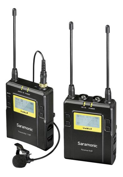 Microfones sem fios Saramonic UWMIC9 preto